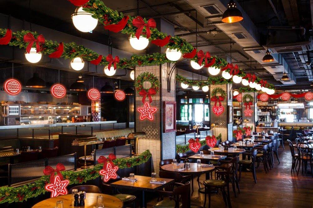 Украшение ресторана на новый год фото
